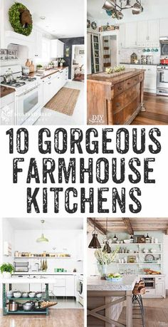 Kitchens {with Fixer Upper style} Ten drool worthy farmhouse kitchens - so much inspiration here! I'd love to have any one of these farmhouse kitchens!Fixer Fixer or The Fixer may refer to: