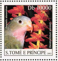 Santo Tome y Príncipe 2003 -  El Perico Princesa,endémico de Australia.