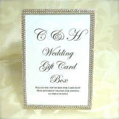 Custom Wedding Card Box Sign Reception By Wrapsodyan 17 25