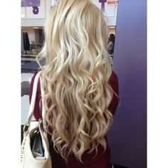 cheap wet and wavy human hair 8pcs Body Wavy #613 Lightest Blonde Clip... ❤ liked on Polyvore featuring hair