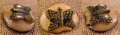 Wounaan Vintage Tagua Butterfly Pendant-Panama #24885