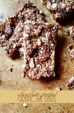These healthy but decadent-tasting chocolate pretzel granola bars are a wonderful and energy-boosting snack– and delicious enough to double as dessert!