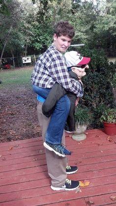 creepy old man piggy back ride halloween costume