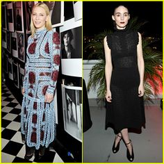 Cate Blanchett & Rooney Mara Celebrate Best Performances at Dom Perignon/W's Golden Globes Party!