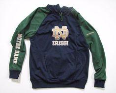 Columbia Notre Dame Long Sleeve Hoody Hoodie Fleece Men M Fighting Irish NCAA #Columbia #NotreDameFightingIrish