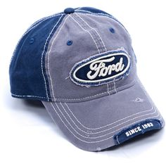 9658340c24418 Ford cap with distressed visor and front panel patch