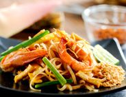 Pad Thai Noodles with Shirmps and Chicken