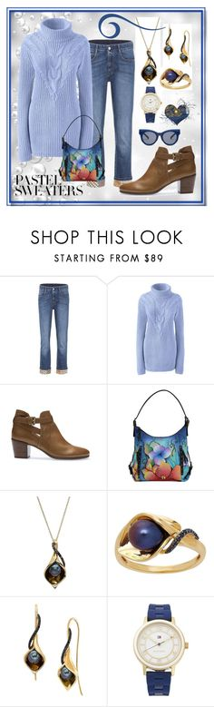 """Pastel Sweaters - Icy Blue"" by aurorasblueheaven ❤ liked on Polyvore featuring STELLA McCARTNEY, Lands' End, Geox, Anuschka, Lord & Taylor, Tommy Hilfiger, Le Specs, pastelsweaters and plus size clothing"