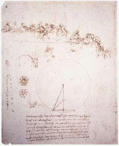 Study for the Last Supper by Leonardo da Vinci #art