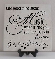 Bob Marley Vinyl Lettering Tile Quote Decal MUSIC