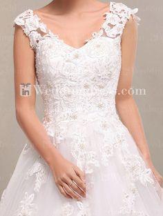 Unique Wedding Dress, Lace Wedding Gown, Princess Wedding Gown