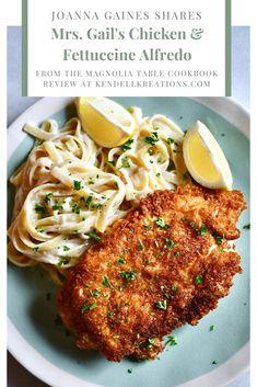 my favorite dish of the summer! Yummy Chicken Recipes, Rib Recipes, Italian Recipes, Italian Dinners, Fettucini Alfredo Chicken, Magnolia Foods, Magnolia Table, Jojo Gaines, Recipes
