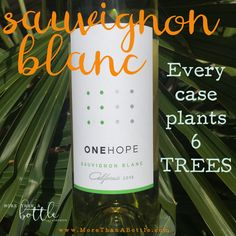 Every case of ONEHOPE California Sauvignon Blanc plants 6 trees in areas hit by deforestation. This wine has key tasting notes of green apple, lime zest, melon, grapefruit, and some grassy undertones.