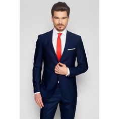 Office : Costum bleumarin, slim fit
