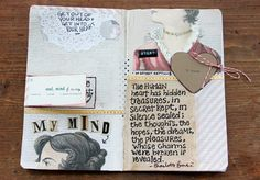 besottment by paper relics: Evolution of a Journal Spread May 2013 Volume 3
