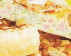 Tarta de queso y panceta
