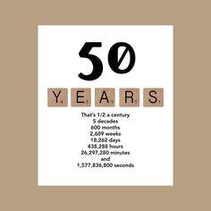 50e verjaardagskaart met mijlpaal van DaizyBlueDesigns op Etsy
