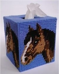 everything plastic canvas | Bay Horse Tissue Topper-Plastic Canvas Plastic-Canvas-Kits.Com