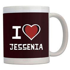 Fuuny Coffee Mugs I love Jessenia Mug * Discover this special cat product, click the image : Cat mug