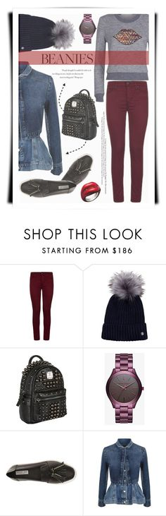 """""""Hat Head: Pom Pom Beanies"""" by joliedy ❤ liked on Polyvore featuring Hudson, Bogner, MCM, Balenciaga, Rachel Zoe, Alexander McQueen and See by Chloé"""