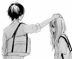 anime, manga, and black and white image Anime Love Couple, Cute Couple Art, Cute Anime Couples, Manga Girl, Image Couple, Photo Manga, Anime Amor, Art Anime, Image Manga