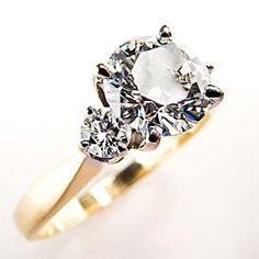 GIA Certified Diamond Engagement Ring w/ Accents 14K Gold