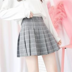 Your Shopping Cart – itGirl Shop Pleated School Skirt, Black Pleated Skirt, High Waisted Skirt, Aesthetic Hoodie, Aesthetic Clothes, College Fashion, School Fashion, Plaid Skirts, Mini Skirts