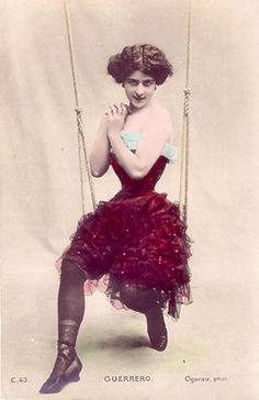 """French Postcard Photograph by Charles Pierre Ogerau was a famed French photographer. In 1885 began to specialize in photo portraits of """" femmes du spectacle"""" for postcards. Vintage Carnival, Vintage Circus, Vintage Beauty, Vintage Fashion, Steampunk Circus, Circus Costume, Carnival Costumes, Vintage Burlesque, Circus Performers"""