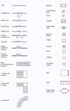 Blueprint symbols aura pinterest symbols architecture and a complete glossary of all the basic house plans blueprint symbols also see our free tutorials how to read blueprints and make your own blueprint malvernweather Choice Image