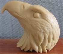 Wood Carved Eagle Head - Bing Images. This looks like a nice go-by carving for the head.