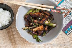 Shiitake med salladslök är en god vegetarisk samt vegan rätt men också ett gott svamptillbehör till det mesta.