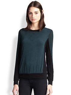 Bailey 44 - Colorblock Silk Jersey Top