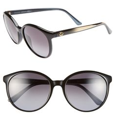 708ced514b Gucci Black New 56mm Retro Shiny Gg 3697 S Sunglasses 61% off retail