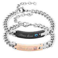 Couple Bracelets, Love Bracelets, True Love, My Love, Amazon Deals, Fitbit Alta, Stainless Steel Bracelet, Relationships, Matching Set