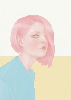 This collection of digital portraits are by Hsiao-Ron Cheng, she has titled the collection 'Fashion/Beauty'. All of Hsiao-Ron's portraits are created with pastel co Illustration Mode, Illustration Fashion, Portrait Illustration, Poster S, Character Sketches, Digital Portrait, Digital Art, Portraits, Portrait Images