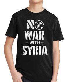 766c6b14 No War with Syria Youth T-Shirt. Professionally Screen Printed Libertarian  Kids Shirts and Clothing by Libertarian Country.