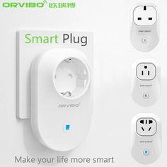 2016 New Orvibo Home Automation EU/U/UK/AU Standard Smart Power Travel Socket Plug 4G/WiFi Remote Control Switch for Smartphones #Affiliate