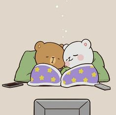 Cute Cartoon Images, Cute Love Cartoons, Cartoon Pics, Cute Bear Drawings, Cute Little Drawings, Chibi Cat, Cute Chibi, Cute Couple Comics, Good Night Gif