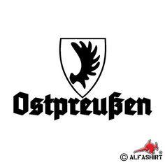 Ostpreußen Elch Heimat Auto Wappen Emblem Sticker Schwarz 15x9cm Aufkleber #A568 | ^ https://de.pinterest.com/juttaschirde/travel-prussia/