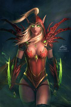 Warcraft: Valeera Sanguinar by raikoart.deviantart.com on @DeviantArt