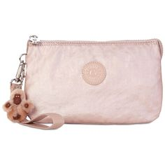 312a36465 Kipling Creativity Extra Large Cosmetic Pouch (600 MXN) ❤ liked on Polyvore  featuring beauty products, beauty accessories, bags & cases, rose gold  metallic ...