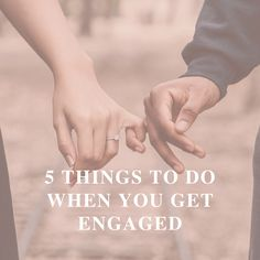 5 Things to Do as Soon as You Get Engaged! 1. Take some time to be happy and enjoy the moment together. 2. Consider the kind of help you need and book your wedding planner with me! 3. Let your family know, then your friends, before you make it social media official. 4. Get your engagement ring sized and insured. 5. Get a manicure. 6. Book your photographer for your engagement shoot. Get a headstart by joining our #BRIDETRIBE for your wedding planning tips and guidance. Wedding Day Tips, Wedding Planning Tips, Wedding Planner, Engagement Ring Sizes, Engagement Shoots, Getting Engaged, Head Start, Things To Do, Congratulations