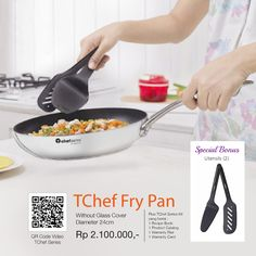 TChef Fry Pan Series Kit Yang Berisi 1 Recipe Box 1 Product Catalog 1 Waranty Flier 1 Waranty Card
