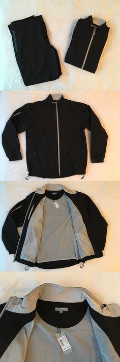 Coats and Jackets 181134: Peter Millar Rain Suit : Pants And Jacket : Size: Large : Color: Black : Brand New -> BUY IT NOW ONLY: $250 on eBay!