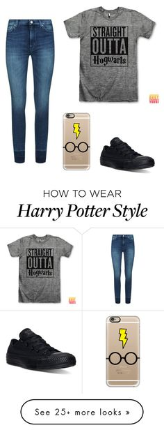 """""""Untitled #50"""" by kylovespickles on Polyvore featuring 7 For All Mankind, Converse and Casetify"""