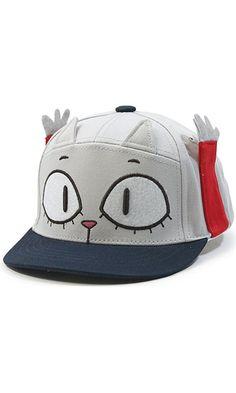 Animal Cloud Bread Cat Raccoon Kids Flat Bill Snapback Baseball Cap (Cat Navy) Best Price
