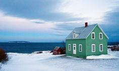 The St-Patrick day Green house in winter. Gaspesie, Canada, Danny VB