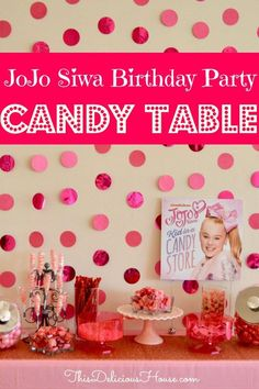 The ultimate Candy Buffet! How to make a PINK low cost candy table for a girls birthday party or for a JoJo Siwa Birthday Party on a budget. Jojo Siwa Birthday, Barbie Birthday Party, Trolls Birthday Party, Cool Birthday Cakes, Frozen Birthday Party, Unicorn Birthday Parties, Birthday Party Favors, Birthday Party Decorations, Birthday Nails