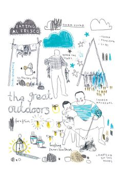 The Great Outdoors // print A4 by PinkPaperCircus on Etsy, £20.00