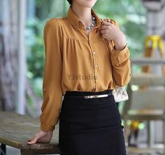 Blouse, Shirt, Korean Style Women Blouse, Great for Spring and Summer,  Don't MISS It!!